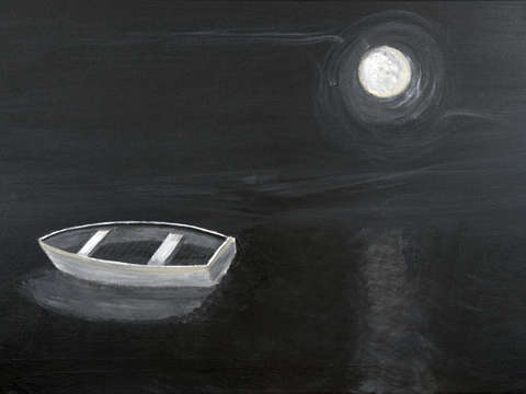 Moonlit Rowboat