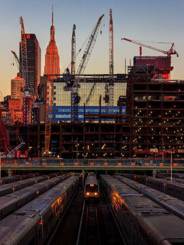 Sunset hudson yards