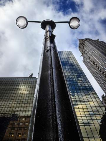 Looking up streetlamp series