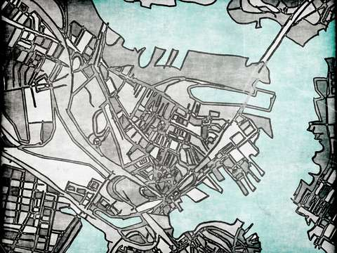 Abstract map of charlestown