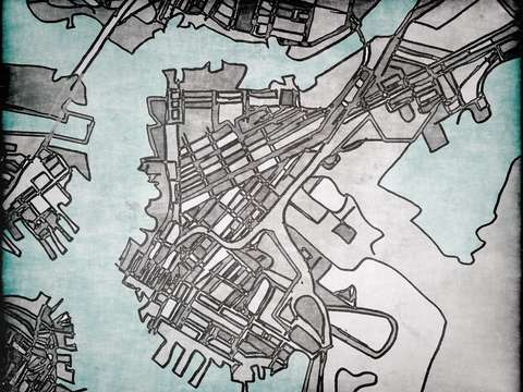 Abstract map of east boston