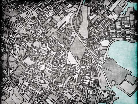 Abstract map of roxbury