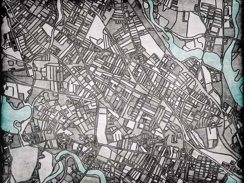 Abstract map of somerville