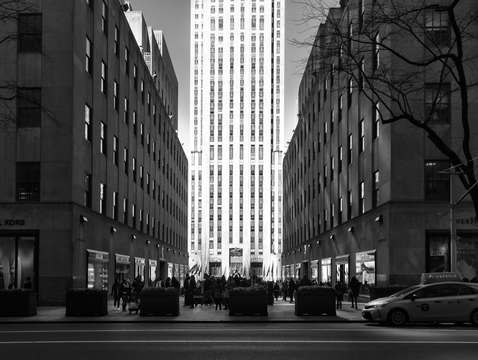 City noir high noon at rockefeller center