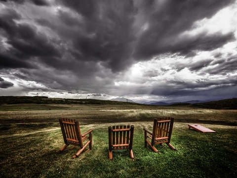 Relaxation Chairs High Aspen Ranch Sunset