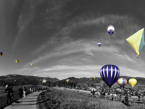 37th annual Snowmass Balloon Festival Selective Color