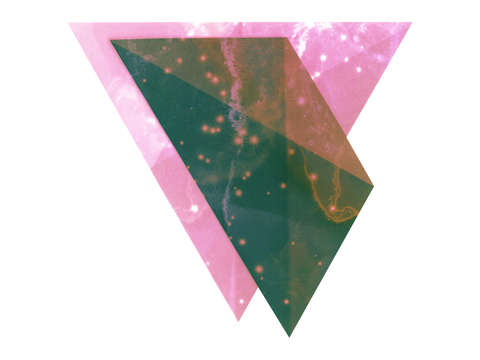 Two Triangles. One pink.