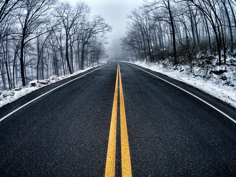 Winter roadscape