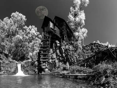 Full moon the crystal mill colorado