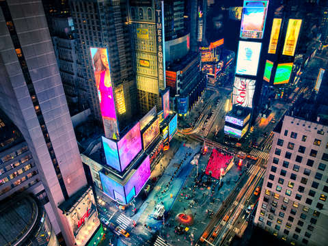 Times square from up high