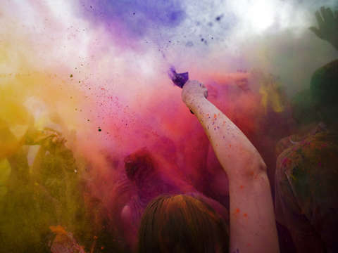 Holi Color Throw
