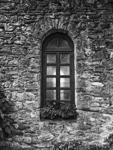 Window of the old spanish mission san antonio