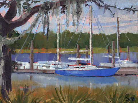 Sailboats and spanish moss