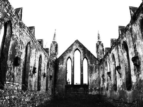 Remains of a church in wexford ireland