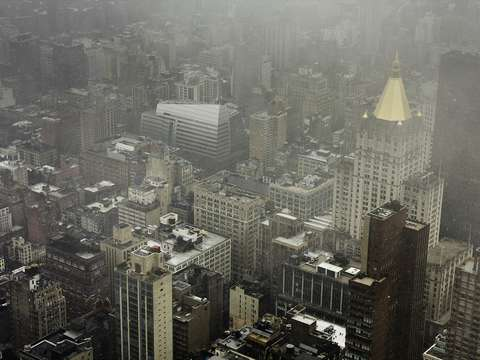 New York In Snow Storm