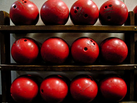 Red bowling balls