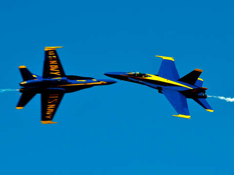 Blue angels cross over