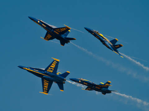 Blue angels break up