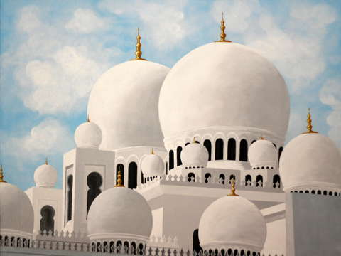 The grand mosque at abu dhabi