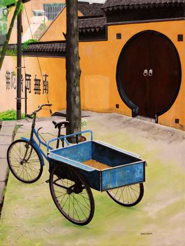 A gardeners bike at suzhou soochow