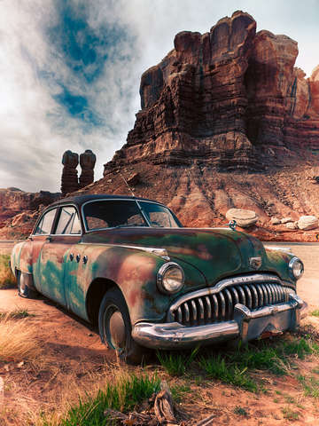 American made old buick in the southwest usa