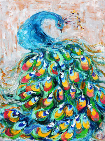 Fancy peacock by karen tarlton