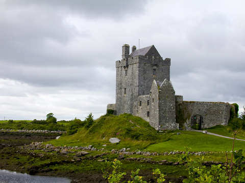 Irish Castle & Green Fields