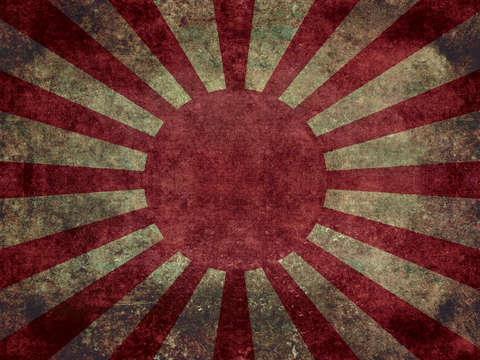 The imperial japanese army ensign flag