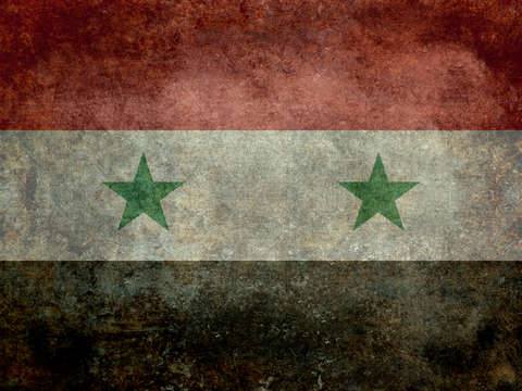 Syrian arab republic state flag
