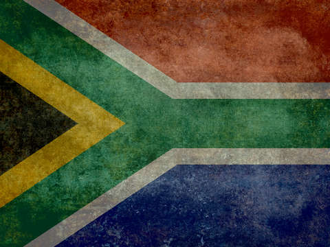 National flag of the republic of south africa