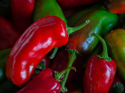 Red and green jalapenos