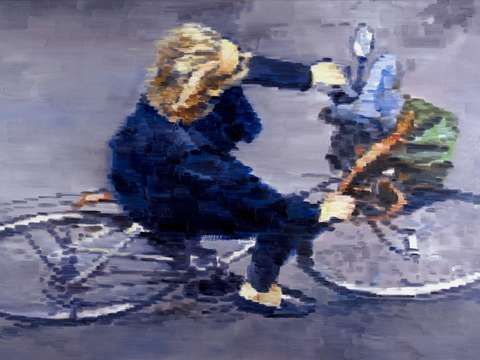 Hotelier On Bicycle In Paris