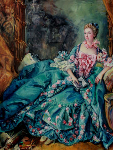 Self portrait as madame pompadour