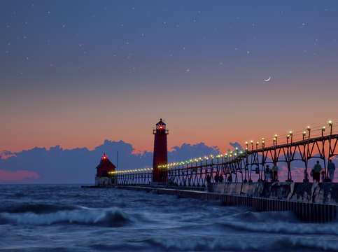 Grand haven at twilight