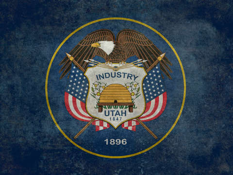 Utah state flag vintage version