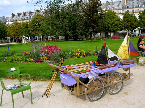 Boats for rent at the tuileries garden
