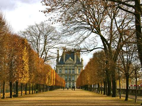 Louvre in fall