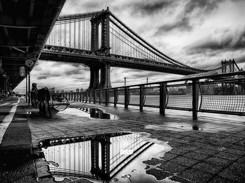 Manhattan bridge after the rain