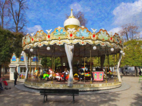 A Carousel in the Tuileries Gardens