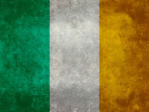 National flag of the republic of ireland vintage v