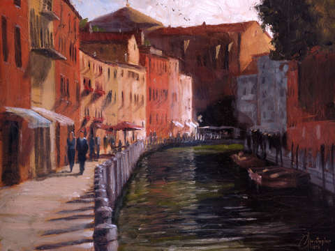 Venice italy along the canal ii