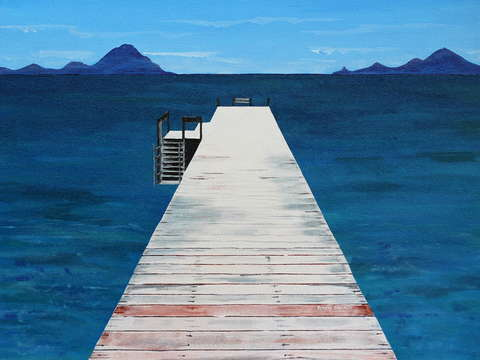 Jetty in the blue