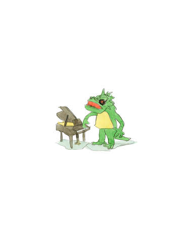 Man in Lizard Suit plays Piano