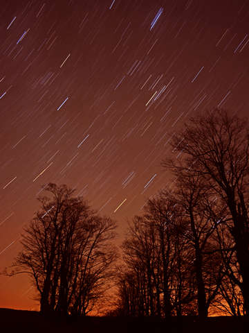 Sunset star trail