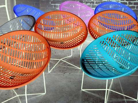 Multicolored summer chairs
