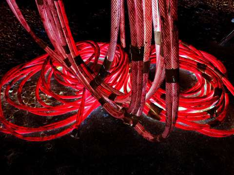 Red hoses