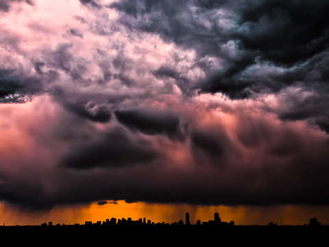 A storm over boston