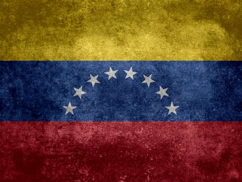 The national flag of the bolivarian republic of ve