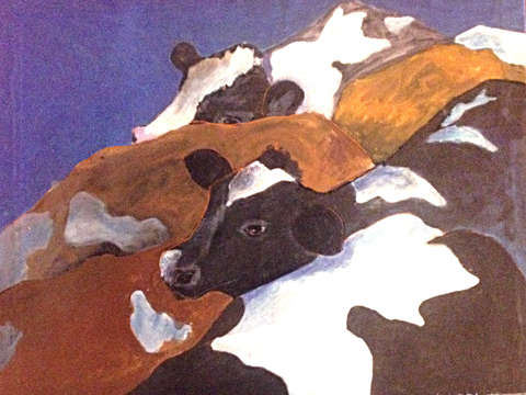 Crowd of cows 2