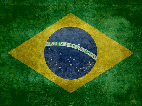 Vintage brazilian national flag